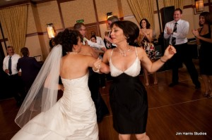AJ and Lisa celebrate on the dance floor